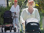 Elsa Hosk cuts a stylishly casual figure for stroll with baby daughter Tuulikki in Pasadena