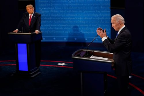 Trump claims he is 'the least racist person in this room' to Biden and a Black moderator at the final presidential debate