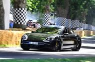 Electric Porsche Taycan makes dynamic debut at Goodwood