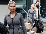 Billie Faiers sizzles in gym wear as husband Greg Shepherd picks her up from DOI training