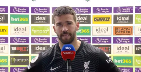 Alisson's emotional reaction over father's tragic death after dramatic Liverpool winner