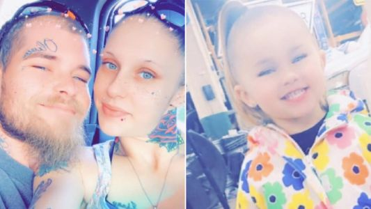 Dad with toddler daughter's name tattooed on his face 'tortured her to death' with his lover