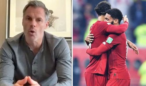 Jamie Carragher signals importance of Liverpool star who's been as good as Virgil van Dijk