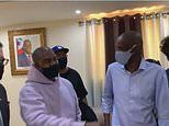Kanye West lands in Haiti and meets with the president who will accompany him toTortuga Island