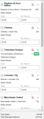 Football Accumulator Betting Tips: Wednesday's 13/1 Team to win Acca