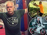 Huw Edwards, 58, poses as an action hero on Instagram after losing three stone on a gruelling diet