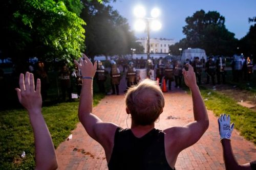 Turbulent scenes as protests over killing of George Floyd rage across US