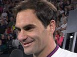 Federer tells tennis fans to enjoy an Australia Day drink after another victory