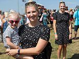 Rebecca Adlington enjoys a day out with her daughter Summer, three, at The Big Feastival