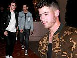 Nick Jonas out for dinner with Kevin and Joe after announcing they're his Voice 'battle advisers'