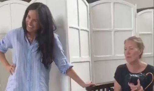 Meghan Markle all giggles as Duchess makes surprise charity visit in behind scenes video