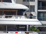 Billionaire businessman James Packer is spotted onboard his luxury yacht with friends in Mexico