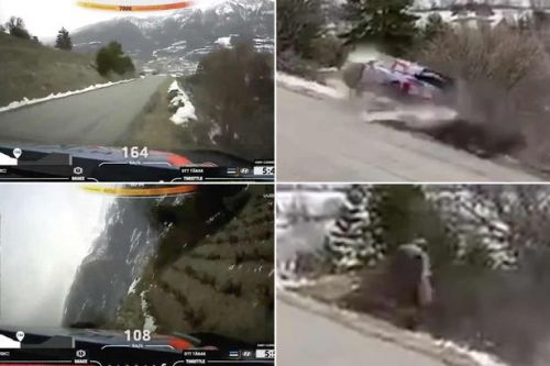 World rally champion Ott Tanak avoids serious injury after huge crash in Monte Carlo