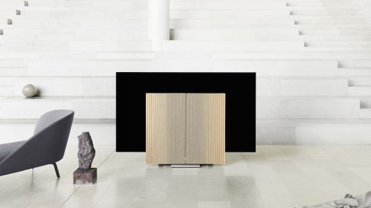 B&O launches 65-inch Beovision Harmony OLED TV with folding sound system