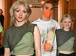Maisie Williams cuts casual figure as she supports boyfriend Reuben Selby at London Fashion Week