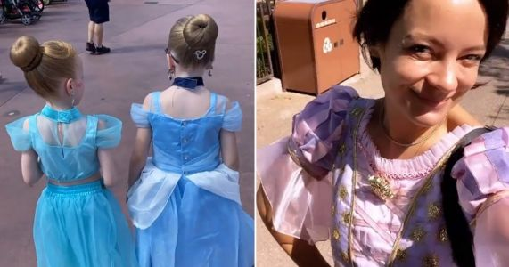 Lily Allen channels her inner Disney princess as she takes her daughters to Disneyland to avoid Brexit