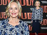 Sharon Stone looks far younger than her 61 years as she supports Renee Zellweger