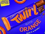 Chocolate lovers go into meltdown as Cadbury announces it's launching an orange-flavoured Twirl