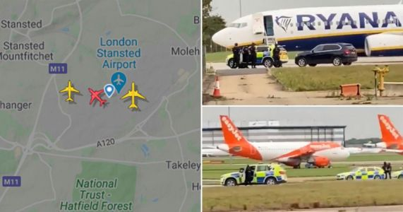 Ryanair flight makes emergency landing after finding note in toilets saying 'explosives were on board'