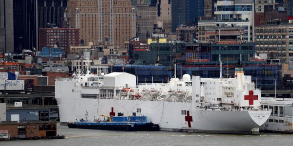 A USNS Comfort sailor tested positive for the coronavirus hours after Trump let the Navy ship start taking COVID-19 patients