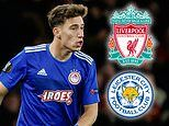 Liverpool and Leicester enquire about Olympiakos left-back Kostas Tsimikas