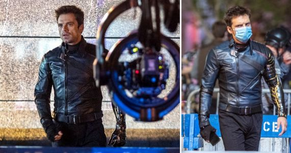 Sebastian Stan brings back Bucky as he masks up during filming for The Falcon and the Winter Soldier