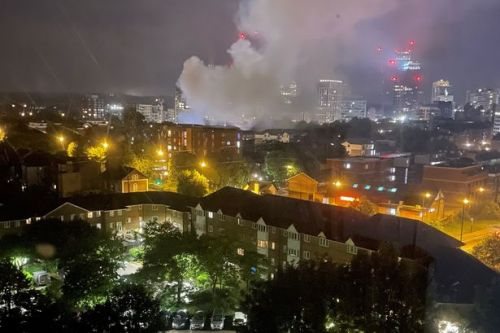 Huge plumes of smoke spotted across capital as fire rips through house