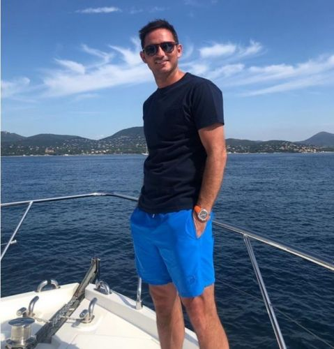 Frank Lampard celebrates birthday on a boat. with Chelsea owner Abramovich and his yacht nearby in French Riviera