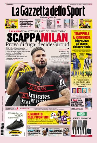 Today's Papers - Milan runaways, Inter and Juve relaunch