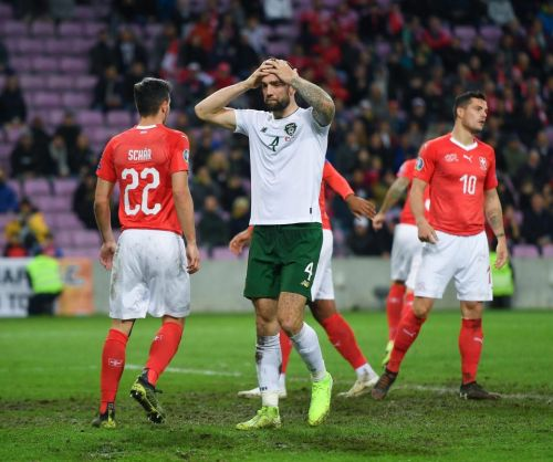 Switzerland 2 Republic of Ireland 0: Boys in Green miss chance to qualify for Euro 2020 as Seamus Coleman is sent off