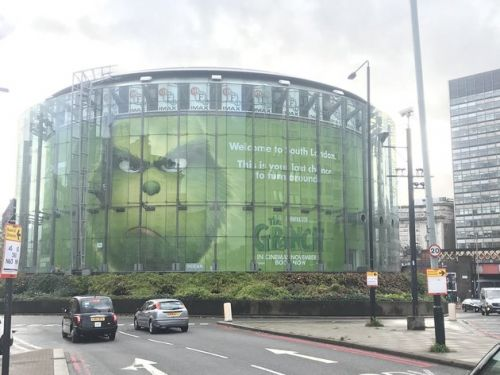Gigantic 'Grinch' Advert Criticised For 'Racist' South London Warning