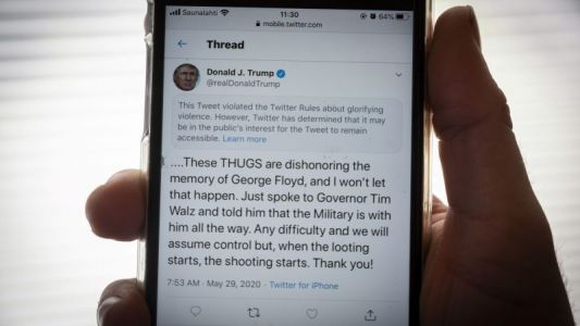 Twitter Hides Official White House Tweet Calling for Killings of Protesters, Too
