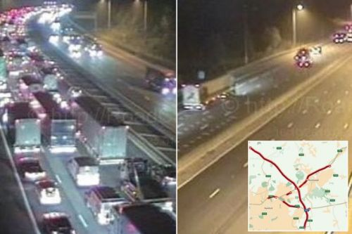 M25 traffic: Road to be closed 'through morning rush hour' after serious car and lorry crash
