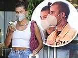 Hailey Bieber grabs dinner with husband Justin after hanging with pals in LA