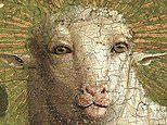 Ghent Altarpiece reveals 'alarmingly humanoid' face of sheep at centre of the artwork