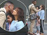 Rashida Jones and Marlon Wayans share a sweet kiss as they shoot scenes for film On The Rocks in NYC