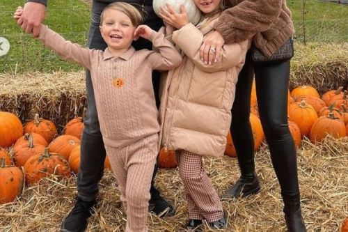 Billie Faiers and Greg Shepherd's start Halloween celebrations early with pumpkin patch visit