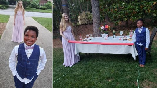 Adorable boy, 7, throws prom for nanny after coronavirus canceled hers