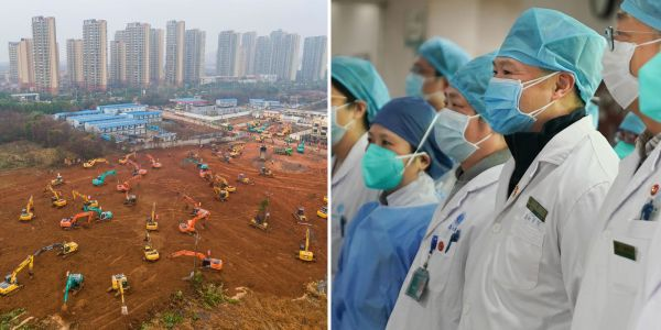 Wuhan, China, is scrambling to build a hospital in just 6 days to treat coronavirus patients its health system gets overwhelmed