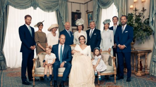 Prince Louis Beams As He's Held By Duchess Of Cambridge In Latest Photo From Christening