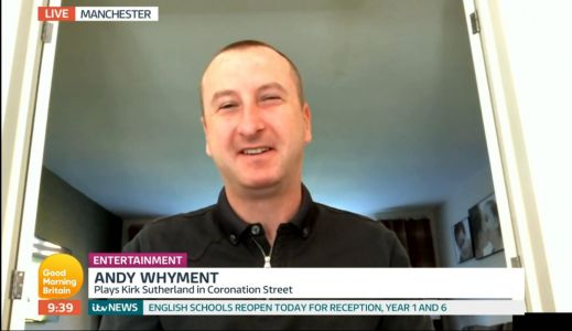 Andy Whyment reveals big changes as Coronation Street returns to filming