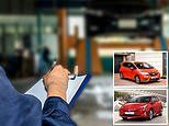 Cars most and least likely to pass an MOT test revealed
