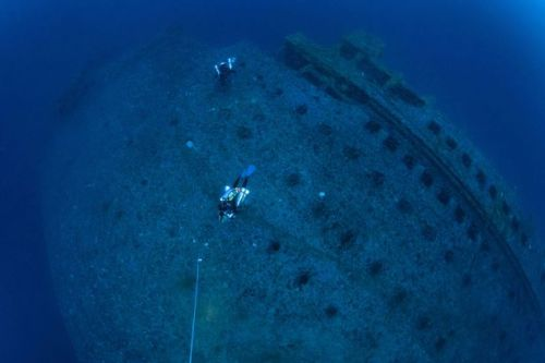 Divers inspect wreck of Titanic's 'sister ship' which also suffered disastrous sinking