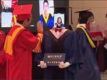 Chinese university uses robots to replace students attending their graduation