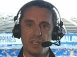 Gary Neville tears into 'embarrassing' Manchester United players and 'rancid' display at Everton