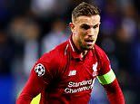 Smart Jordan Henderson has timed his run perfectly. he will start to score important goals