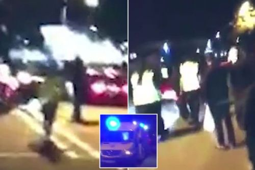 London mosque 'hate crime' crash: Terrifying scenes of worshippers running after 'car ploughs into crowd'