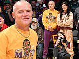Flea heads courtside with wifeMelody Ehsani as the Lakers take on Boston Celtics at Staples Center