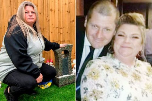 Devastated family wake up to find memorial for dad who died of cancer in flames