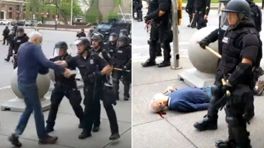 Cops filmed shoving peace activist, 75, to ground 'set to be charged today'